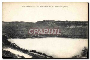 Old Postcard Aix les Bains and Mont Revard seen Col du Chat