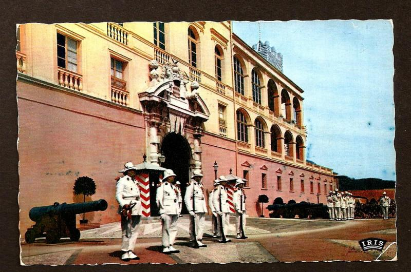 MONACO OLD POSTCARD-USED -R.PHOTO-MONTE CARLO THE PALACE
