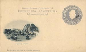 argentina, BUENOS AIRES, Estacion F.C. Del Sud (1899) Postal Stationery