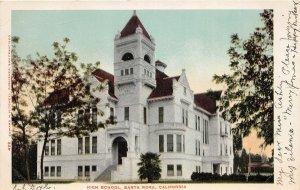G76/ Santa Rosa California Postcard 1904 High School Building