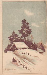 Winter Scene , ESTONIA , PU-1927 Artist Axel Rossman