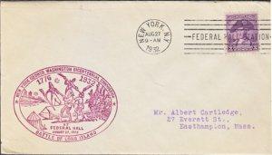 GEORGE WASHINGTON BICENTENNIAL 1932 COVER - NYC / Battle of LONG ISLAND 1776