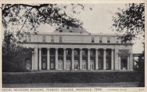 Social Religions Building, Peabody College, NASHVILLE, Tennessee, 1930s