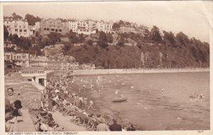 TORQUAY, Devon, England, PU-1951; Tor Abbey Sands & Bathing Beach