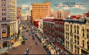 Michigan Grand Rapids Monroe Avenue Looking East From Campau Square 1946