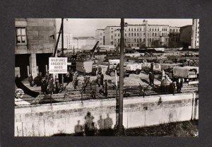 GERMANY Berlin Wall William Street German Real Photo RPPC  Postcard Postkarte