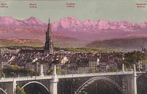 Switzerland Bern mit Eiger Moench Jungfrau und Breithorn