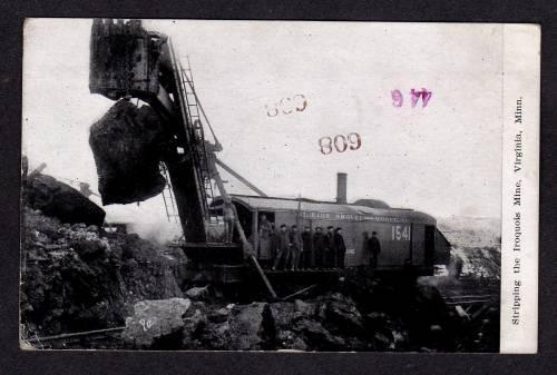 MN 1910 Marion Shovel Strip Mining Iroquois Mine VIRGINIA MINNESOTA Postcard