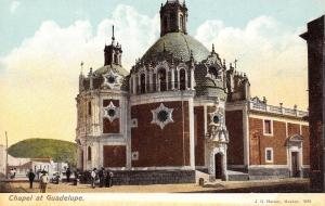 Mexico City Mexico~Guadelupe Basilica Chapel~Close Up~1908 Postcard