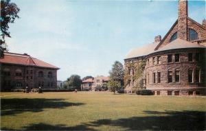 Oberlin Ohio~Oberlin College Warner Gym~Men's Bldg~Peter's Hall 1950s Postcard