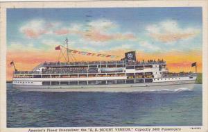 Steamer S S Mount Vernon 1948 Curteich