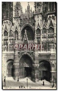 Old Postcard Rouen Cathedral Portals