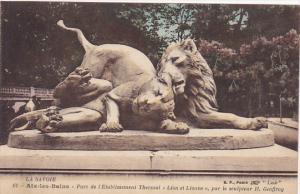 France Aix-les-Bains Parc de l'Etablissment Thermal Lion et Lionne