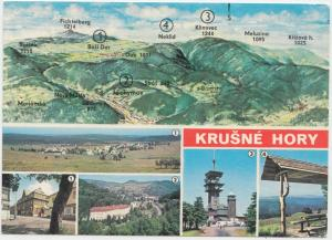 KRUSNE HORY, Czech Republic , used Postcard