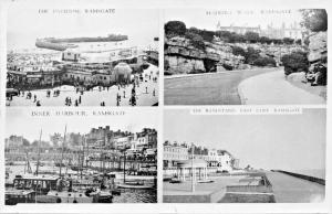 RAMSGATE KENT UK~MULTI IMAGE PHOTO POSTCARD 1940s