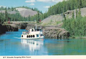 The M.V. Schwatka Navigating Miles Canyon,  Whitehorse,  Yukon,  Canada,  50-70s