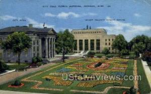 City Hall Floral Gardens Jackson MS 1944 missing stamp
