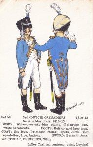 Dutch Grenadiers Musician Uniform Holland Army Soldier Napoleonic War Postcard