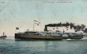 CLEVELAND, Ohio, PU-1908; Steamer CITY OF ERIE