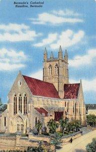 Bermuda Post card Old Vintage Antique Postcard Bermuda's Cathedral Hamil...