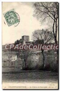 Old Postcard Nogent Le Rotrou Chateau De Saint Jean