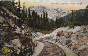 CALIFORNIA, 1900-1910´s; Castle Crags, Railroad Tracks