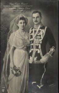 Prussia - Prince Ernsst August & Princess Victoria Luise Real Photo Postcard