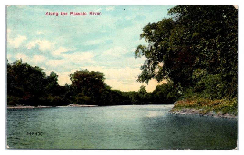 1920s Along the Passaic River, NJ Postcard