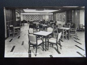 Shipping P & O LINER - IBERIA 1ST CLASS VERANDAH CAFE c1950's RP Postcard