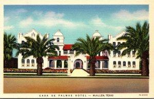Texas McAllen Casa De Palmas Hotel Curteich