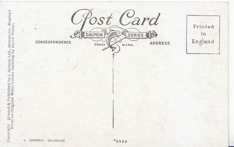 Northamptonshire Postcard - Garden - Sulgrave    U4423