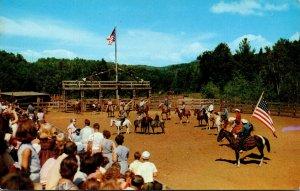 New York Adirondacks Frontier Town Rodeo Scene