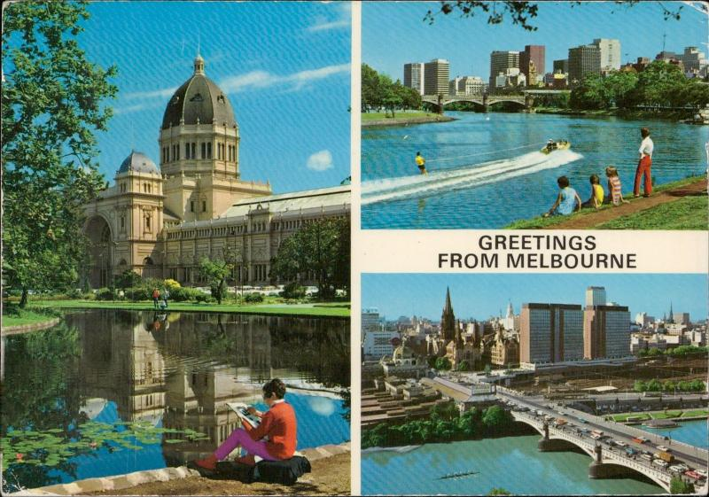 melbourne greetings australia collage postcard
