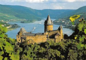 Jugendburg Stahleck Bacharach am Rhein Castle River Panorama Chateau