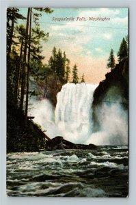 WA-Washington Scenic Snoqualmie Falls, Cliffs, Gorge, Vintage Postcard