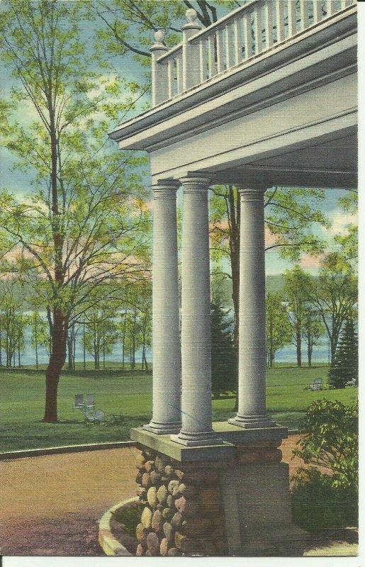 Stoneham, Mass., View of Spot Pond, New England Sanitarium and Hospital,