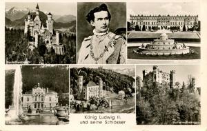 Germany's King Ludwig II and His Castles.     *RPPC