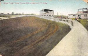 Oklahoma City Oklahoma State Fair Race Track Antique Postcard J56030