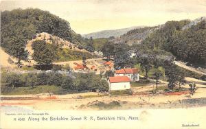 Berkshire Hills MA Berkshire Street Railroad View Postcard