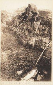 RP: YOSEMITE , California, 1910-20s ; Half Dome from Glacier Point