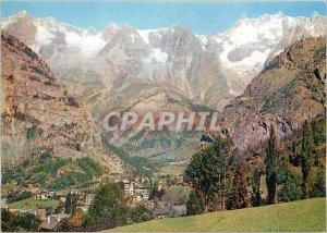 Postcard Modern Courmayeur Panorama