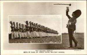 Toy Soldier Display Boys Duke of York Royal Military School RPPC Postcard