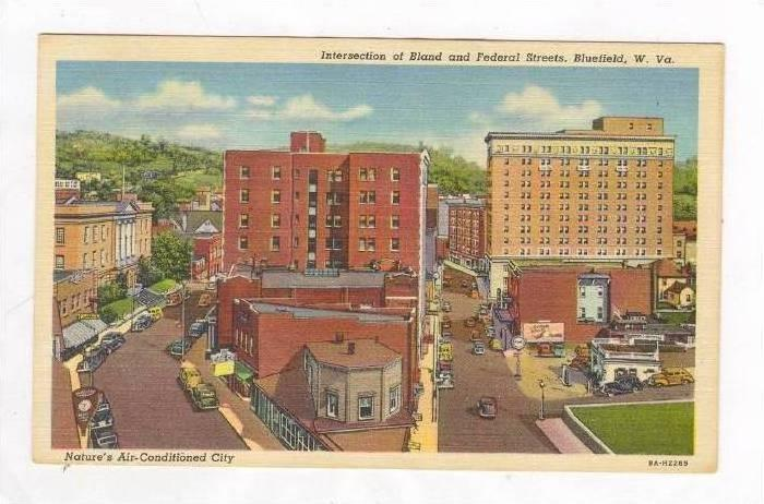 Intersection of Bland & Federal Streets, Bluefield, West Virginia, 30-40s