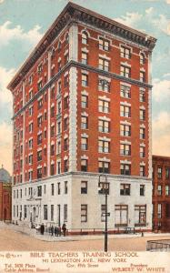 New York City~Bible Teachers Training School~Lexington Ave~WW White~1907 Adv PC