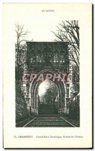 Old Postcard Chambery Portal St. Dominic Entree du Chateau