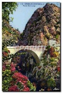 Postcard Old San Luigi Grimaldi Ventimiglia Ponte