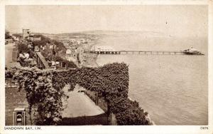 Isle of Wight Sandown Bay The Pier Panorama Postcard