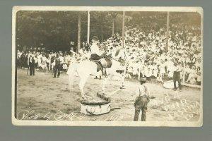 Nashua IOWA RPPC 1912 TRAINED HORSE ACT Big 4 Fair BALANCING nr Charles City