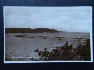 Wales BANGOR Garth Pier & Beaumauris - Old RP Postcard by Excel Series