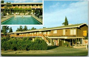 Palo Alto, California Postcard CURRIER MOTEL Stanford Roadside c1970s Unused